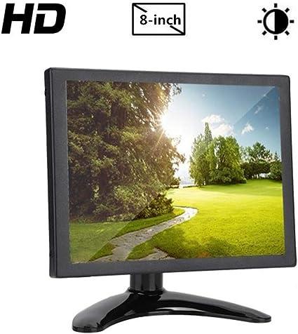 8 Monitor Portátil para Raspberry Pi, Pantalla Táctil Capacitiva Resolución 1024x768 HDMI/VGA/BNC/AV LCD Pantalla para PC, TV, CCTV, Cámara, Seguridad, Computadora(Enchufe de la UE): Amazon.es: Electrónica