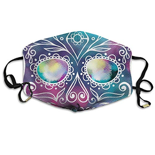 Bennett11 Flower Sugar Skull Face Mask Ear-Loop Dustproof Mask Outdoor Reusable Mask