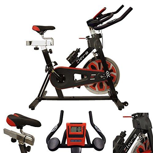 Esprit Fitness Unisex's Elev-8 Exercise Bike, Black, Large
