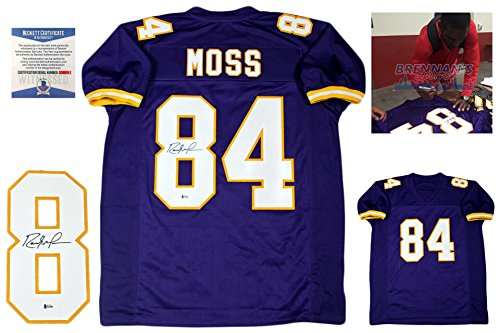 Randy Moss Collectibles (Randy Moss Autographed SIGNED Custom Jersey - Beckett Authentic)