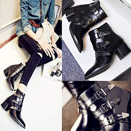 Lianaii Damen Stiefel Stiefel Stiefel Herbst Und Winter Mode Mit Klobigen Stiefelies Wies Stiefelies fb384d