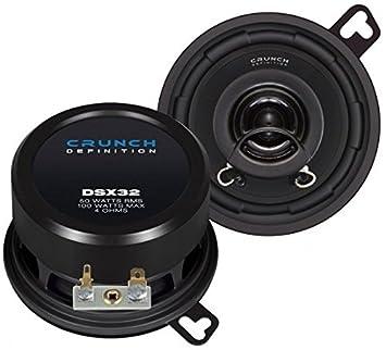 Crunch DSX32 altavoz audio - Altavoces para coche (De 2 vías, 100W, 50W, 4,5 cm, 8,8 cm)