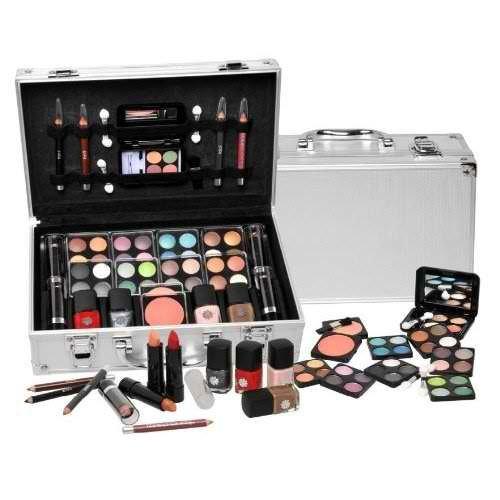 Shany cosmétiques transporter tout train affaire avec le maquillage et boîtier en aluminium réutilisables, Cameo