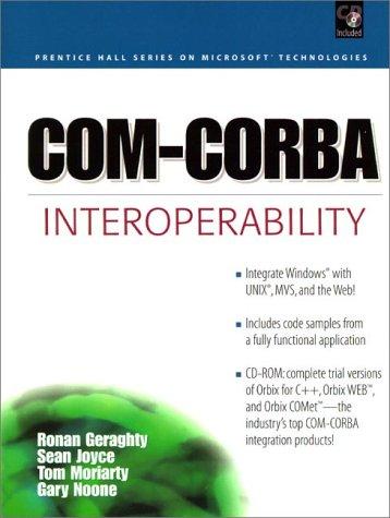 COM-CORBA Interoperability by Prentice Hall Ptr