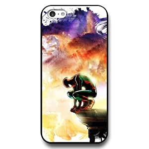 BESTER Onelee Customized Marvel Series Case for iPhone 5C, Marvel Comic Hero Spider Man Logo iPhone 5c Case, Only Fit for Apple iPhone 5C (Black Hard Case)