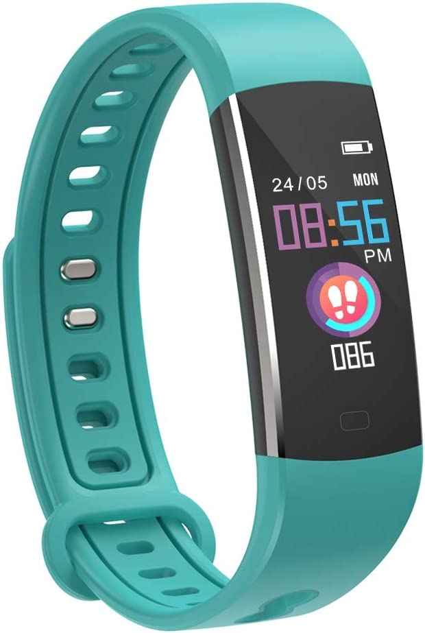 moreFit Kids Fitness Tracker with Heart Rate Monitor, Waterproof Activity Tracker Watch with 4 Sport Modes, Sleep Monitor Fitness Watch with Call SMS Reminder Alarm Clock, Great Gift