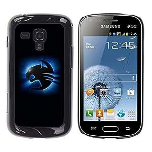 TopCaseStore / la caja del caucho duro de la cubierta de protección de la piel - Blue Cougar - Samsung Galaxy S Duos S7562