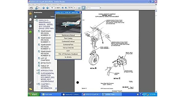 Array - amazon com  cessna 421 service repair maintenance manual library        rh   amazon com