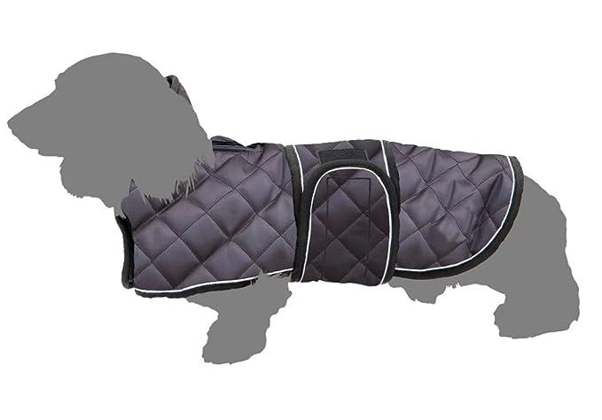 mit verstellbaren B/ändern f/ür kleine mittelgro/ße und gro/ße Hunde Geyecete Warmer Thermo-Hundemantel mit Dackel-Motiv Warmer Fleece-Futter f/ür den Au/ßenbereich