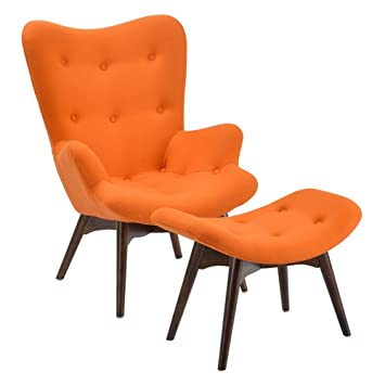 Amazing Poly And Bark Auzzie Lounge Chair And Ottoman In Orange