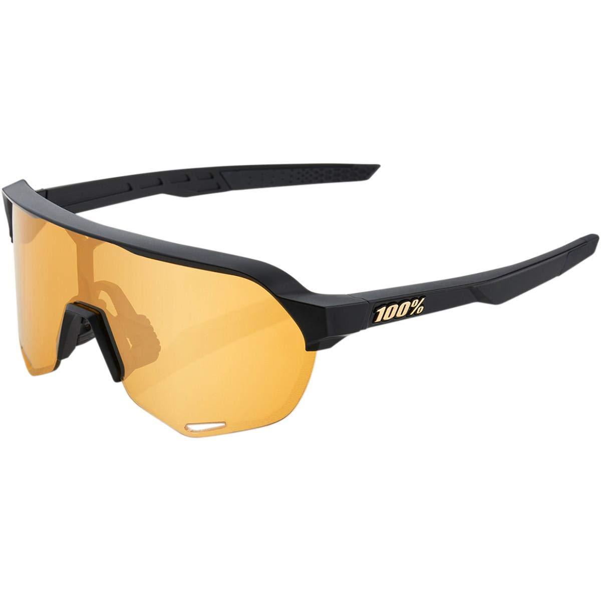 100/% S2 Sunglasses Matte Black//Soft Gold Lens