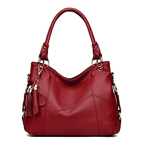 Sac Mode Bandoulière Multi Couture red Mini Sac à Épaule Rétro Glands à Main Pocket qRSW5IWw