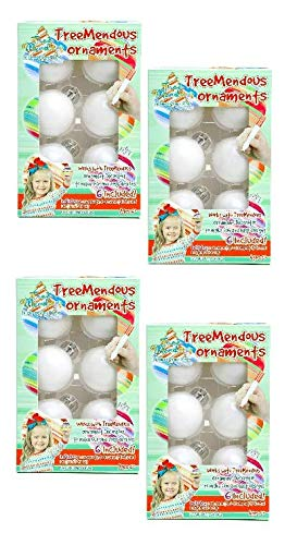 TreeMendous Christmas Tree Ornament Decorating Refill Kit - Includes 24 Blank Ball Ornaments for DIY Craft Activities