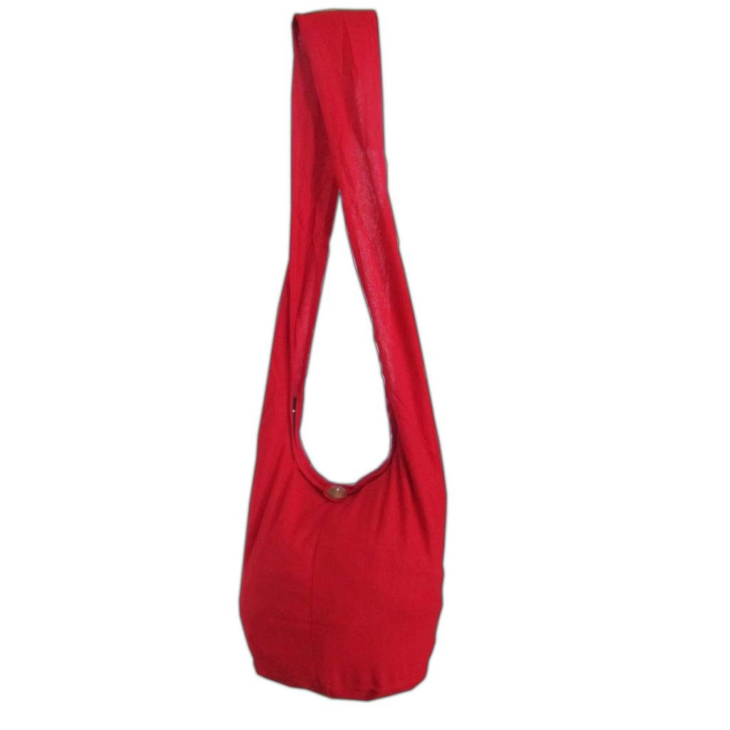 Bolso bandolera con doble tejido y con bolsillo interior algod/ón resistente color Gris Panasiam varios colores y dise/ños talla L