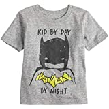 Jumping Beans Toddler Boys 2T-5T Batman Kid by Day Batman by Night Tee 3T Charcoal Snow