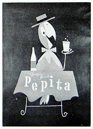 1957 Print Herbert Leupin Advertising Poster Pepita Grapefruit Juice Soda VENA1 - Original Halftone Print from PeriodPaper LLC-Collectible Original Print Archive