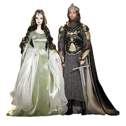 Barbie Lord of The Rings and Ken as Arwen and Aragorn -