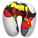 Multifunctional Neck Pillow Africa U-Shaped Soft Pillows Convertible Portable For Reading,Sleeping On Airplanes,Train,Car,and Travel