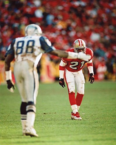 MICHAEL IRVIN DALLAS COWBOYS-DEION SANDERS SAN FRANCISCO 49ERS 8X10 SPORTS ACTION PHOTO (XL) -