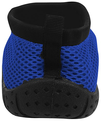 Sport Slip Summer Aqua Zipper Vacation On Half Water Women's Enimay Drawstring Blue Beach Shoe a5q8xSf