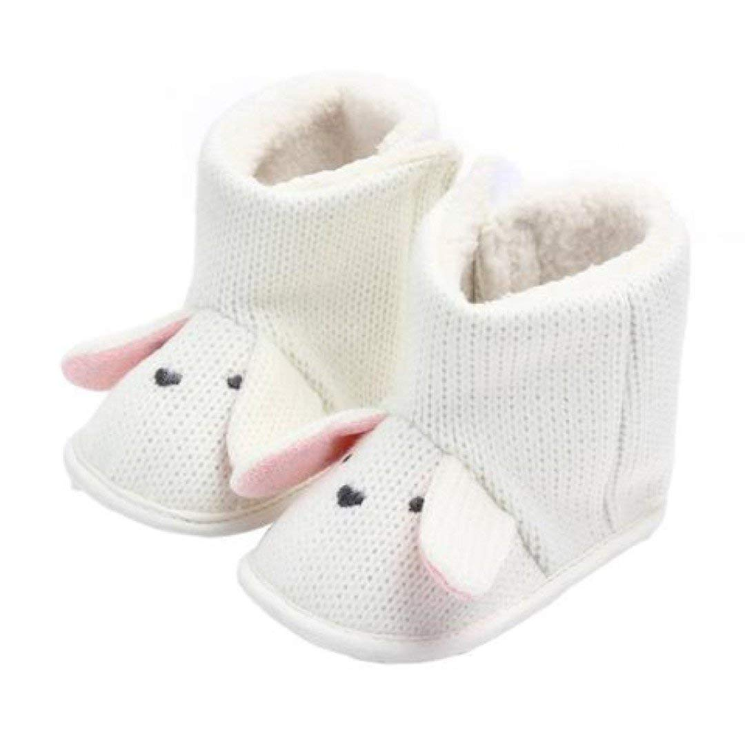 wanjares Baby Girls First Walkers Wool Cotton Boots