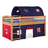 kids playhouse bed - Alaterre Addison Junior Loft Bed with Tent and Playhouse