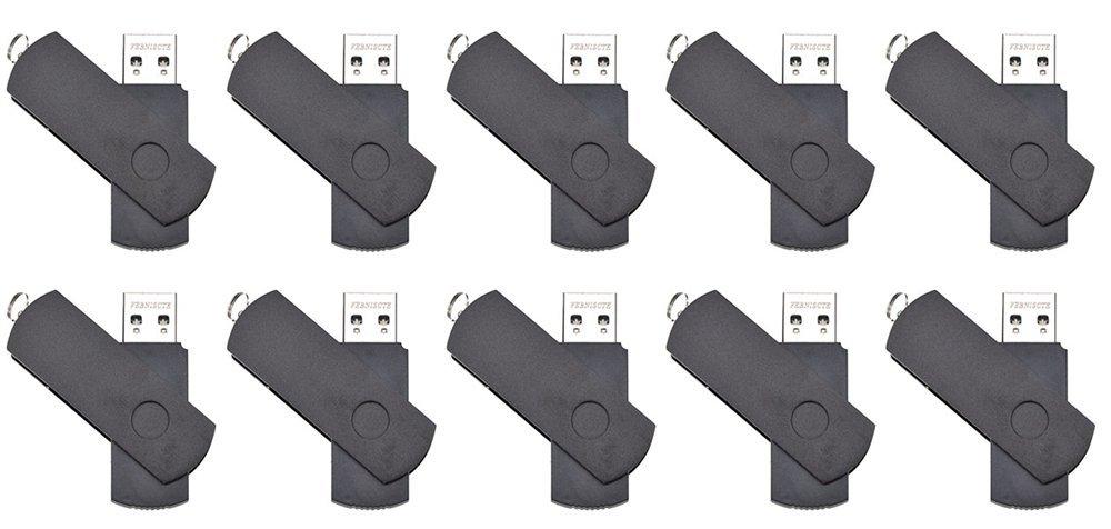 FEBNISCTE Black Euro Swivel USB3.0 Flash Drive-10 Pack 32GB by FEBNISCTE