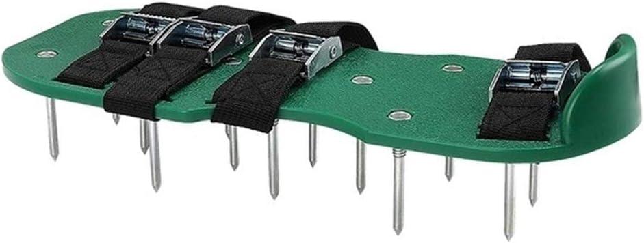 El aireador Zapatos 4 Zapatos Ajustable Correas for Trabajo Pesado con Pinchos Sandalias con Hebillas de Metal una Talla for Todos Spikes Zapatos (Color : Green)