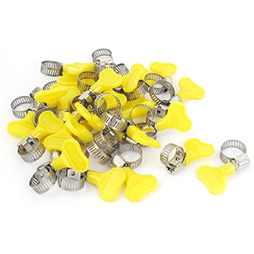 9mm-16mm Range Plastic Key Grip Worm Drive Hose Clip Tube Clamp 30pcs by uxcell