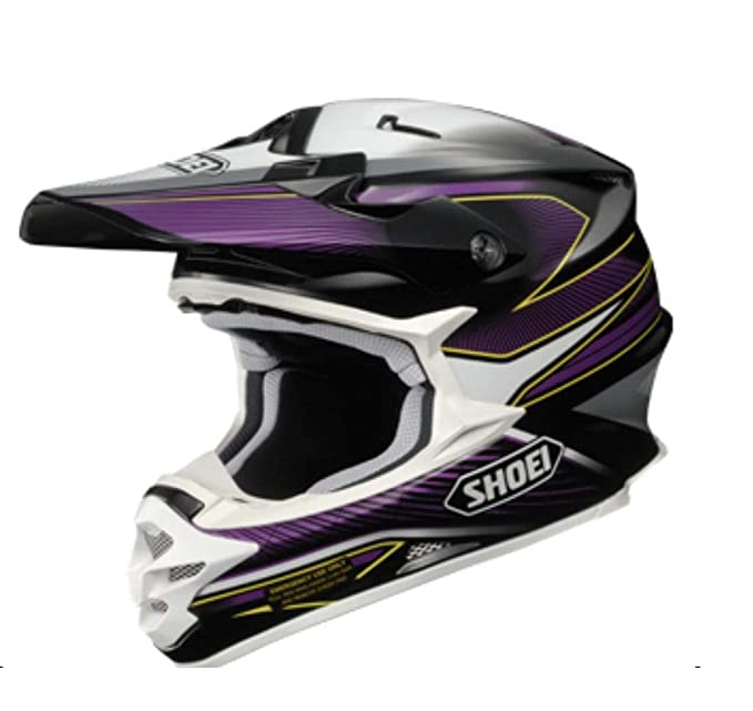 Shoei VFX-W Sear Off-Road Helmet (Black/Purple/White, Medium)