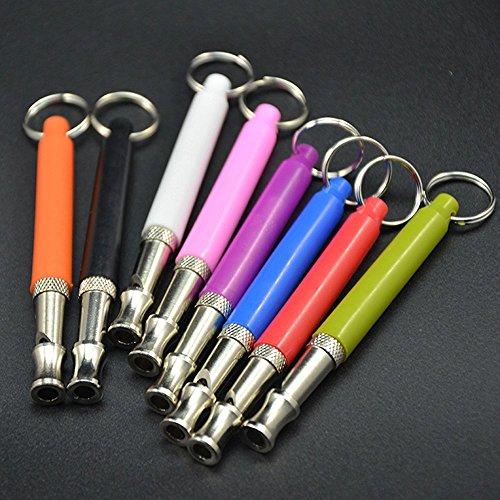 - 8 Pcs 8 Colours a Pack Adjustable Ultrasonic Device Pet Dog Whistle Flute Dog Pet Training Whistle Flute Dog Pet Bark Stop no bark Whistle Flute