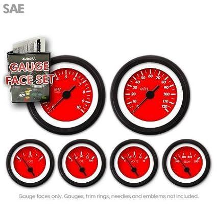 GARFE35 Marker Red Gauge Face Set Aurora Instruments