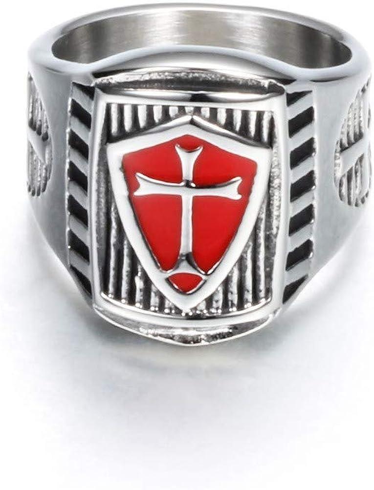 XBYBEI Anillos de Oración Grabado Cruzados Templarios Cruz ...