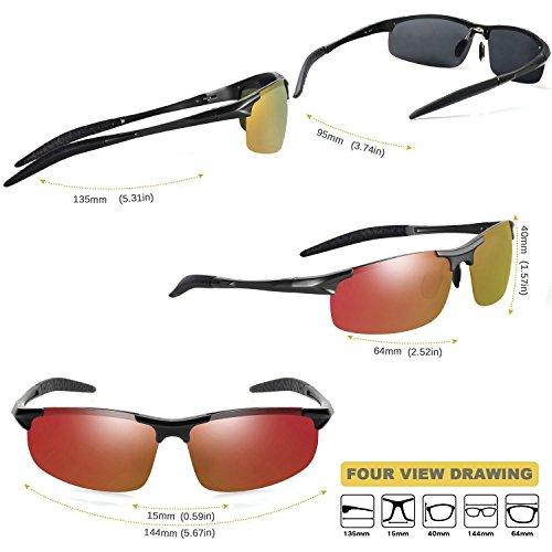 Mode Lunettes de soleil polarisées pour l'extérieur Sports Homme Femme/MG en alliage pour homme Aviator pilote Pêche Lunettes de soleil polarisées Eyewear UV400 vDyJ9p