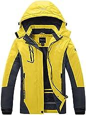 9d1432f05a Wantdo Women s Mountain Waterproof Fleece Ski Jacket Windproof Rain ...
