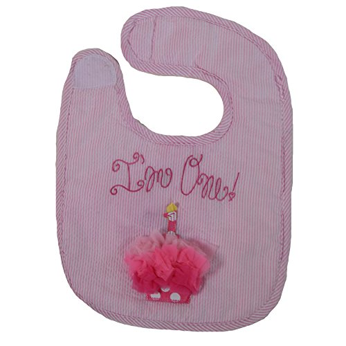 (Mud Pie Baby-Newborn First Birthday Girl Bib, Cupcake, One Size)