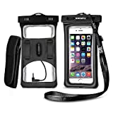 Floatable Waterproof Phone Case, Vansky Waterproof Phone Pouch with Armband and Audio Jack for...