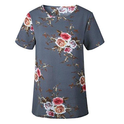 Impression Casual Courte Chemisier Gris T Florale Crop Tunique Vovotrade Haut Hemd Ete Dcontracte Manche Femmes Dames Blouse Tunika Retro Tops Sexy Elegant shirt Mode q8x4Swx7