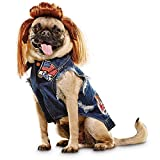 Bootique Denim Vest and Mullet Dog Costume, Small