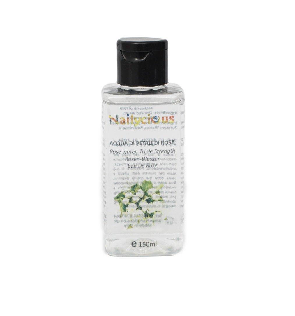 100% puro de agua de rosas 150 ml - sin alcohol y en calidad alimentaria - Limpiador facial natural, florido, crema hidratante, tóner facial y maquillaje Nailycious Ltd