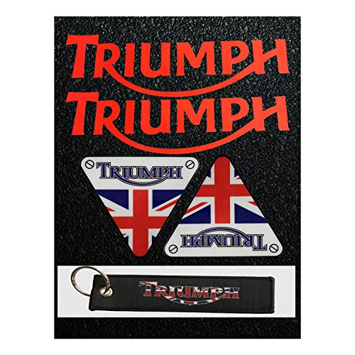 - LLAP Motorcycle Keychain for Triumph Sticker Reflective Vinyl Carbon Fiber Decals Set (5 Packs)