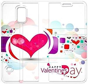 Día de San Valentín T4E83U6 Samsung Galaxy S5 caso del tirón del cuero funda Y7R08S7 teléfono barato caso funda de plástico