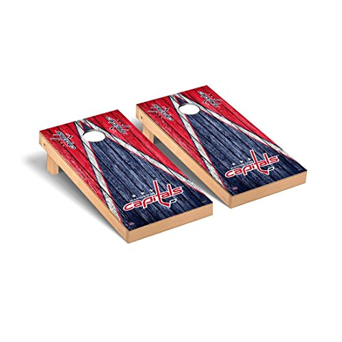 Victory Tailgate Washington Capitals NHL Regulation Cornhole Game Set Weathered Triangle Version