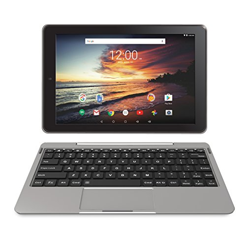 RCA Viking Pro 32GB Quad Core 10.1 inch Hdmi Bluetooth WiFi Detachable Keyboard Android 6.0 (Silver) (Renewed)