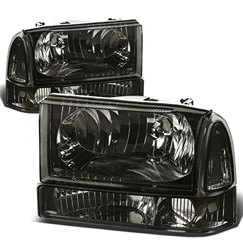 For Ford Super Duty/Excusion 4pcs Smoked Lens Clear Corner Headlight+Bumper Light Kit Replacement ()