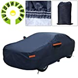 AUTOSAVER88 Car Cover 7 Layers 3XL Hot Welted Seamless PEVA Cotton Lining Snow Dust Waterproof Car-covers with Bag