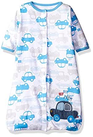 Rene Rofe Baby Baby Wearable Blanket, Blue Cars, 0-6 Months