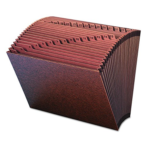 Day Accordion - Smead TUFF Expanding File, 31 Pockets, Daily (1-31), Letter Size, Redrope (70467)