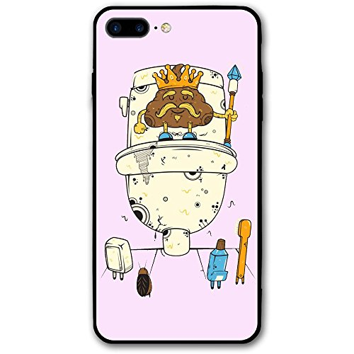 Pattern Lavatory (IPhone 7 Plus Case Shit King Of Lavatory Cute Pattern Fashion Case Mobile Phone Case)