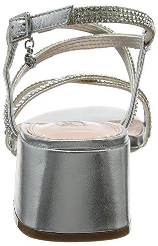 Sandales Masiey Silver leather Bride Silver Femme Dune leather Cheville Argenté BUa5P4Pnqw